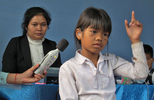 audiometry in Battambang school